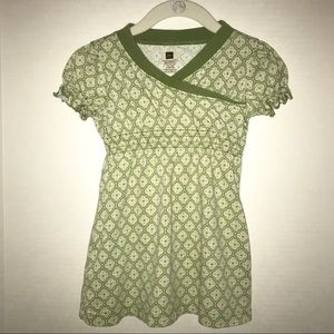 Tea Collection dress with pretty green pattern